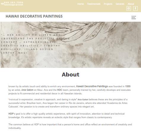 Hawaii Decorative Paintings Website